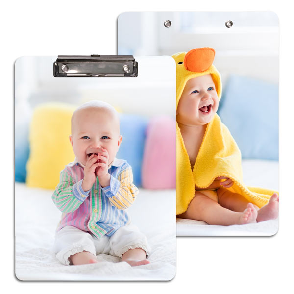 Keep those you love close at school or the office with a photo personalized clipboard