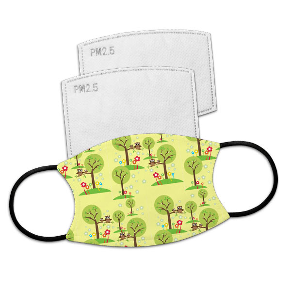Personalized face masks include 2 free carbon filters which are optional for better protection