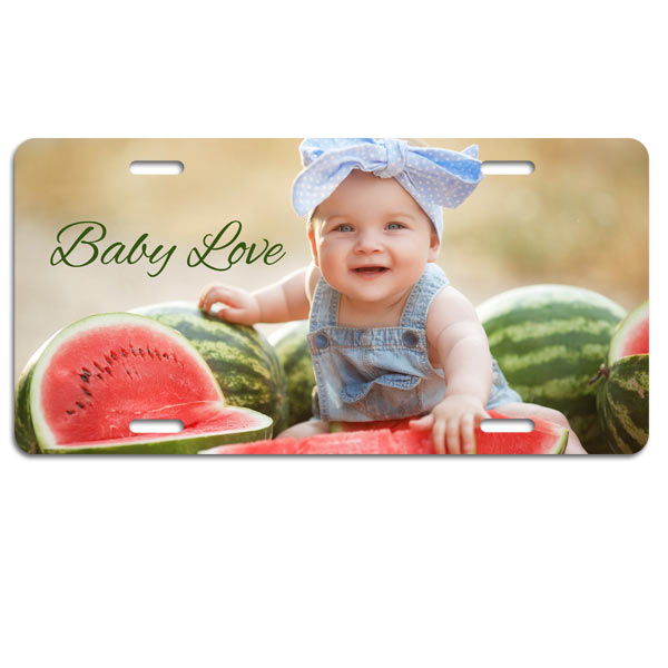 Add your photo to a license plate and brighten up your car or truck with a personal touch