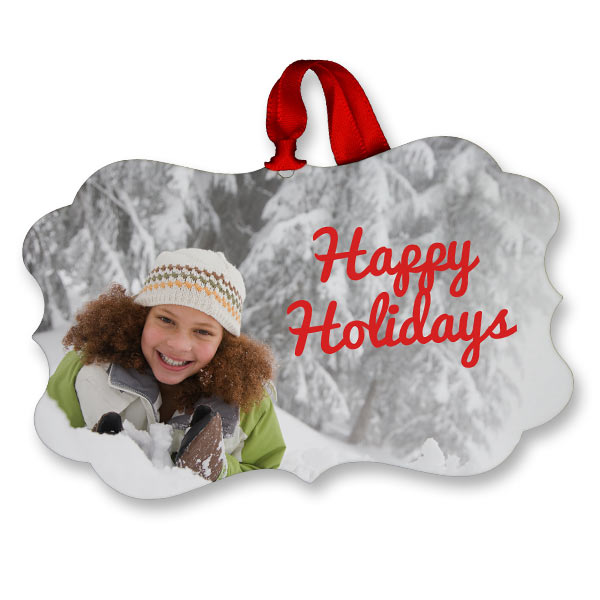 Create a beautiful photo ornament with your own picture and enjoy it every holiday