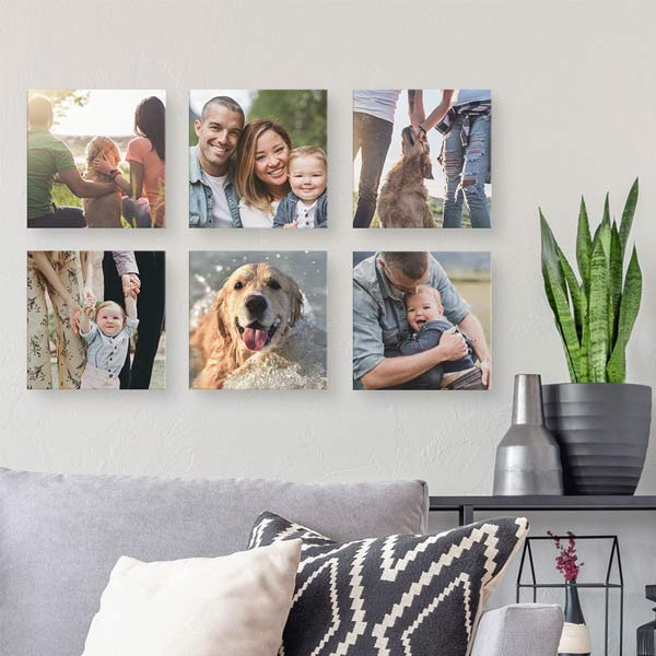 Create floating canvas lites and design a photo gallery in your home
