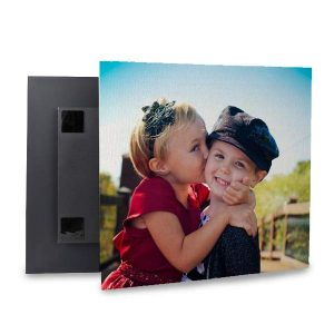 Canvas Lites floating canvas squares are a beautiful and modern way to display photos in your home