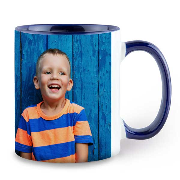Choose a color for your mug to match your photo for the perfect accent match