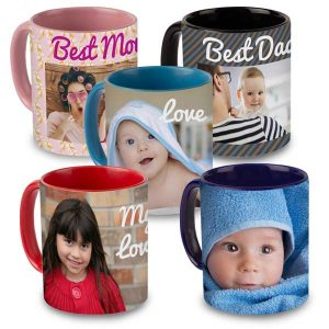 Color accent mugs are available in 5 different colors and really add style to your mug