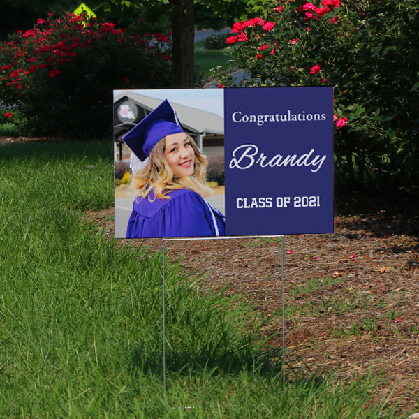 Yard signs personalized for any occasion make the perfect graduation party announcement