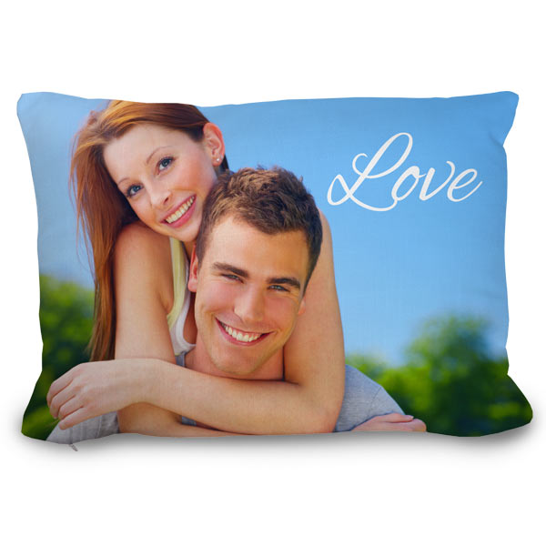 Turn your picture into a pillow for your couch and easily add custom text and more