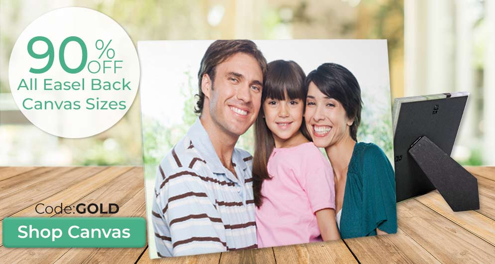 Add your photo to an easel back canvas to display on your wall or shelf