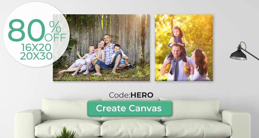 Shop for canvas at the print shop and save money while our canvas prints are on sale
