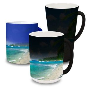 Wow your friends and family with a color changing mug that magically reveals your photos when hot