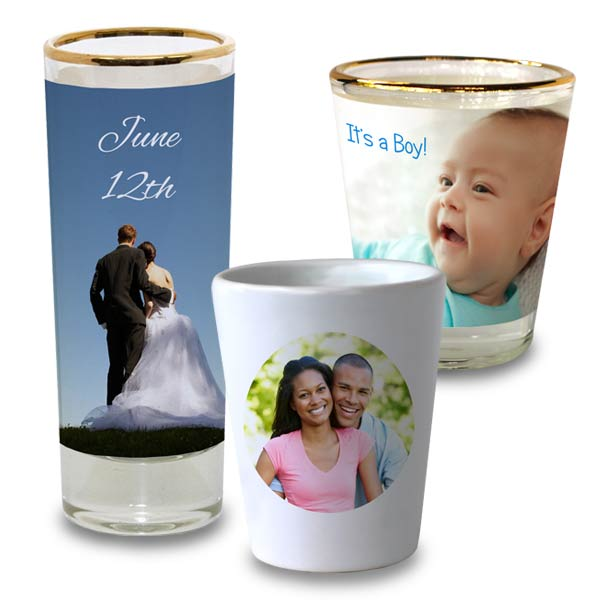 We offer many options for you to design your own shot glass for parties and gifts