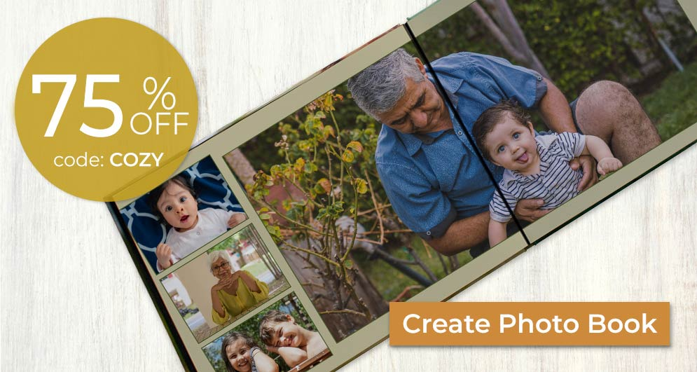 Customize your own memory book and tell your story with pictures