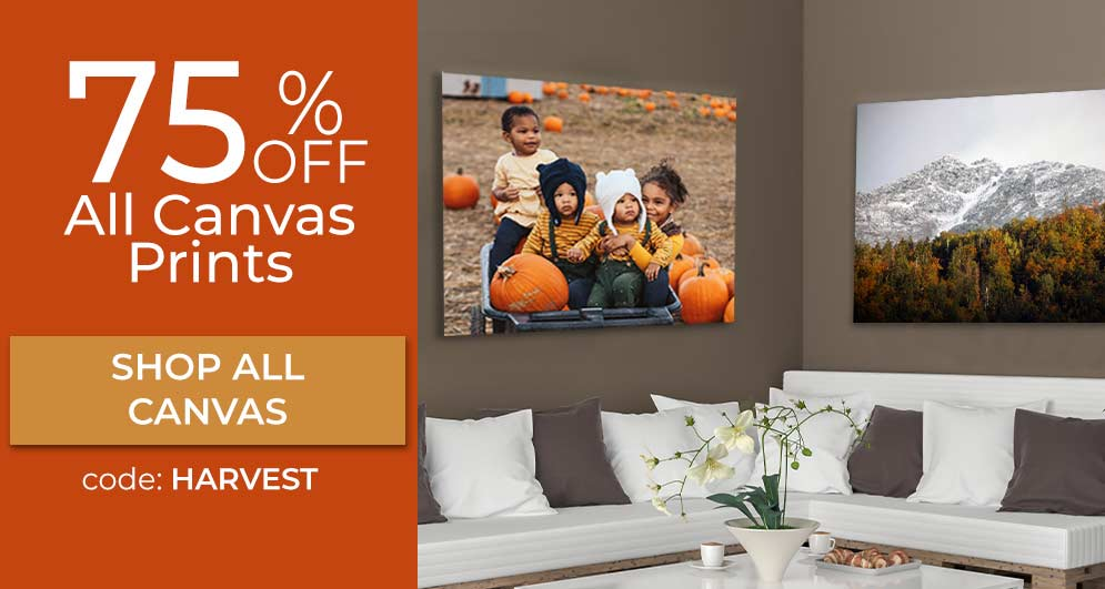 Order your picture printed on canvas for a beautiful display in your home